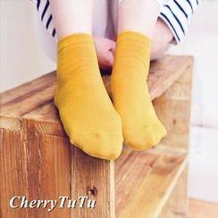 櫻桃兔兔 - 純色襪子