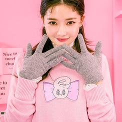 chuu - Touchscreen Wool Blend Gloves