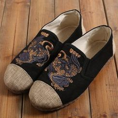 Sparrow Farm - Embroidered Slip-Ons