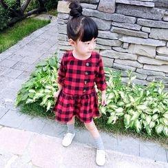 CUBS - Kids Gingham Long-Sleeve Dress