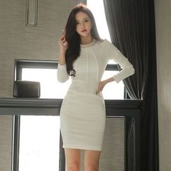 Gl.bY - Long-Sleeve Sheath Dress