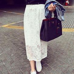Eva Fashion - Maxi Lace Skirt