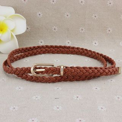 LONGMA - Woven Faux Leather Belt