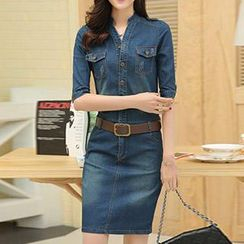 Neeya - Short Sleeved Denim Dress