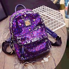 Velocia - Studded Sequined Backpack