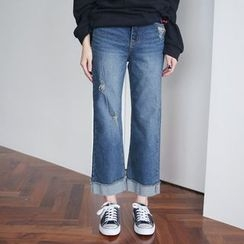 Envy Look - Rollup-Hem Wide-Leg Jeans