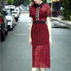 Deedlit - Lace Collared Dress