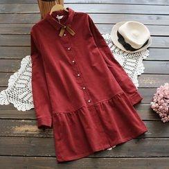 YOYO - Long-Sleeve Ruffled Dress