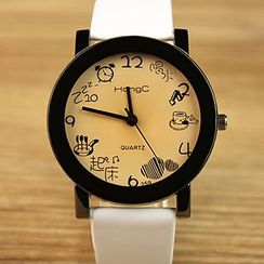 YAZOLE - 情侶印花帶手錶