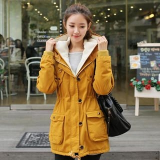 CLICK - Hooded Drawstring-Waist Jacket