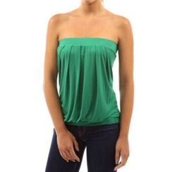 Dream a Dream - Strapless Pleated Top
