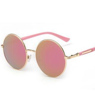 复古圆框太阳眼镜