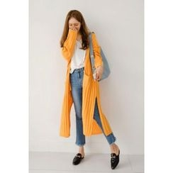 migunstyle - Open-Front Ribbed Cardigan