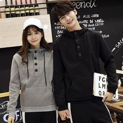 belle epoque - Couple Matching Buttoned Hoodie