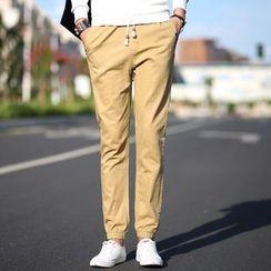 CREEKOB - Elastic Cuff Straight-Cut Pants
