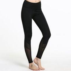 LAVIE.Q - 薄纱拼接瑜珈裤