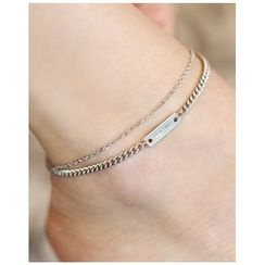 Miss21 Korea - Layered Metal Anklet
