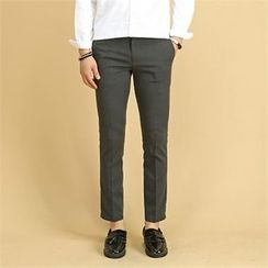 THE COVER - Flat-Front Slim-Fit Dress Pants