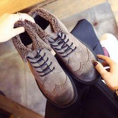 楊董 - 低跟繫帶及踝靴