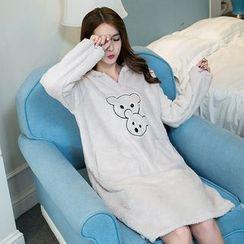 Jolly Club - Long-Sleeve Hooded Night Dress