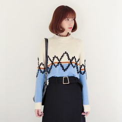 WITH IPUN - Color-Block Sweater