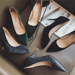 Hipsole - Pointy-Toe High-Heel Pumps