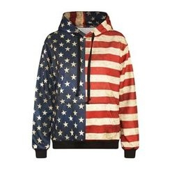 Omifa - Flag-Print Hooded Pullover