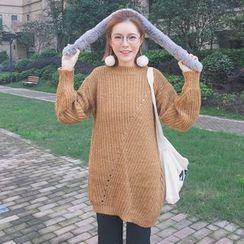 Zzang Girls - Open Knit Long Sweater