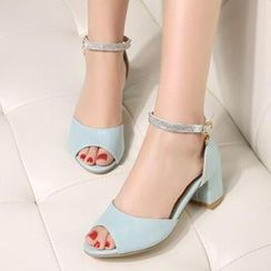 Tomma - Rhinestone Heeled Sandals