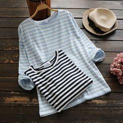 YOYO - 长袖条纹T恤
