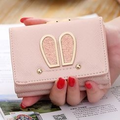 Eustoma - Rabbit Ear Faux Leather Wallet