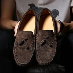 Hipsteria - Suede Oxford Slip-Ons