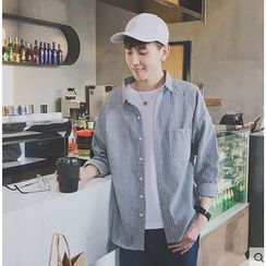 Zeesebon - Pinstripe Long-Sleeve Shirt