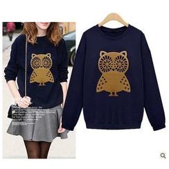 Sienne - Owl Print Pullover