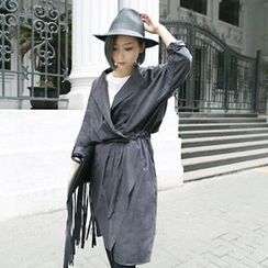Smile.Hotel - Pleated Wrapped Trench Coat