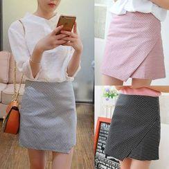 Whitney's Shop - Stripe A-line Skirt
