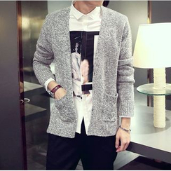 Bay Go Mall - V-Neck Cardigan