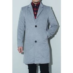 Ohkkage - Single-Breasted Wool-Blend Coat