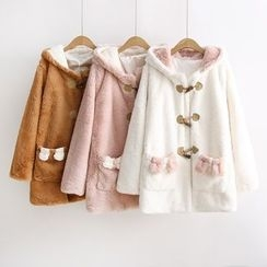 Musume - Bow-Accent Rabbit-Ear Toggle Coat