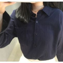 Eva Fashion - Plain Pocketed Shirt