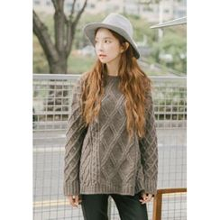 GOROKE - Wool Blend Cable-Knit Sweater