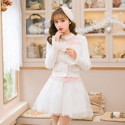 Candy Rain - Ruffle Trim Jacket
