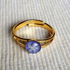 MyLittleThing - Resin Little Snowflake Ring (Blue Purple)