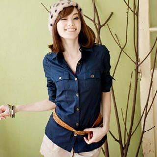 Tokyo Fashion - Tab-Sleeve Studded Shirt