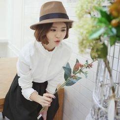 兰芝 - 蕾丝边长袖衬衫