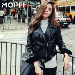 MOFFI - 仿皮夹克