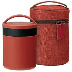 Skater - Japanese Style Thermal Delica Pot with Case (Red)