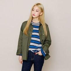 Envy Look - Pocket-Front Snap-Button Jacket