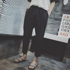 NAPO - Cropped Drawstring Pants