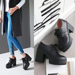 佳美 - 粗跟牛津鞋